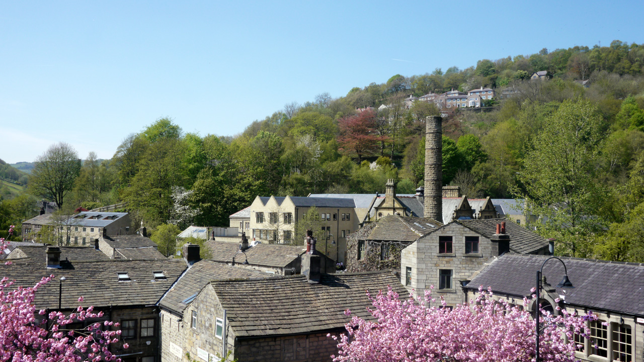 Hebden Bridge in spring