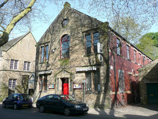 The Trades Club in Hebden Bridge. Creative commons photo by Humphrey Bolton.